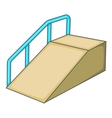 Ramp for the disabled icon cartoon style vector image