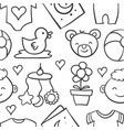 collection stock of baby design doodles vector image
