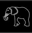 elephant it is icon vector image
