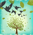 migrating birds vector image