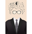 human face is made up of with drawing business vector image vector image