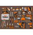 Buildings tools icons set vector image