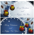 landscape new year card vector image