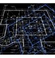 Blueprint abstract dark background vector image