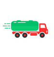 colored tank car icon vector image