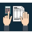 document paper invoice payment icon vector image