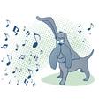 dog music vector image