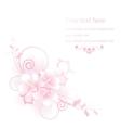 Elegant apple flowers composition vector image