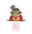 funny cartoon cute dracula potato with vector image