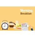 Good Morning Breakfast Banner vector image