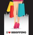 I love shopping vector image