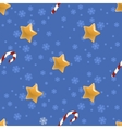 Seamless Christmas pattern with stars vector image