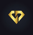 shape diamond gold logo vector image