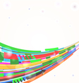 Abstract background with curved lines eps10 vector image vector image
