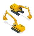 Isometric crawler excavator Special machinery vector image