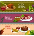 Czech cuisine banner set for food theme design vector image