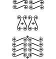 filigree scrolls vector image