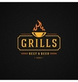 Grill Design Element in Vintage Style for Logotype vector image