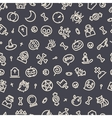 Halloween Seamless Pattern With Icons Dark vector image
