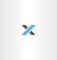 logotype letter x logo icon vector image