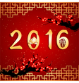 Chinese New Year The Year of Monkey Background vector image