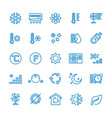 air conditioning line icons temperature vector image