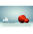 christmas background with christmas ball in red vector image