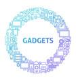 gadget line icon circle concept vector image