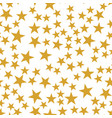 golden stars seamless pattern vector image