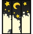 Set of banners with night vector image