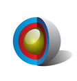sphere section vector image