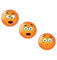 Cartoon Orange Fruit Set 2 vector image