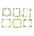 Floral frames with flowers vector image