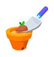 icon soil vector image vector image
