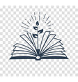 silhouette icon the acquisition of knowledge vector image