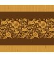 Birds among flowers wooden horizontal seamless vector image vector image