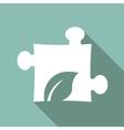 Eco Flat Icon vector image vector image