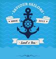 Vintage Nautical Anchor and ribbon vector image