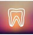 Molar tooth thin line icon vector image