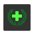 Medical Glory Flat Button vector image