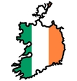 Map in colors of Ireland vector image vector image