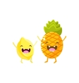Lemon And Pineapple Cartoon Friends vector image