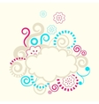 Abstract swirls frame vector image