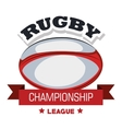 ball rugby championship league banner graphic vector image