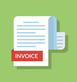 concept of the invoiced document payment document vector image