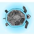 Doodle turtleHand drawn sketch vector image