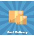 Fast delivery banner Cardboard boxes symbol vector image
