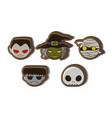 halloween cute cartoon character cookies vector image
