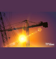 Highrise tower crane vector image