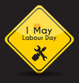 labour day 1 may poster vector image